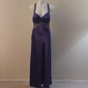Dave & Johnny Purple Prom Dress
